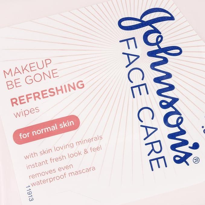 Johnson s cara cuidado maquillaje Be Gone refrescante toallitas - pack de 25: Amazon.es: Belleza