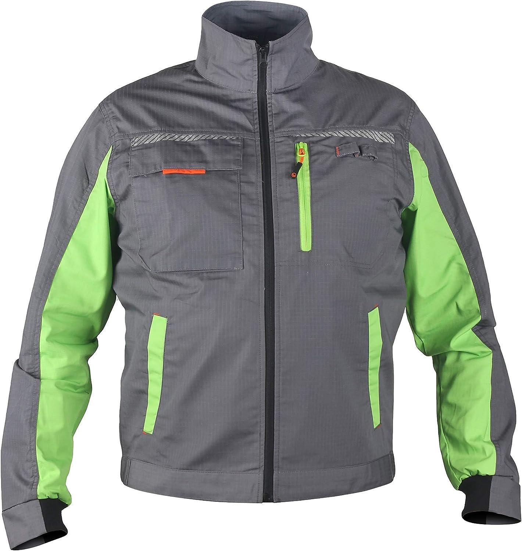 reflektierende Streifen Herren Multifunktionale Arbeitsjacke Bundjacke Enge Passform Prisma/® viele Farben