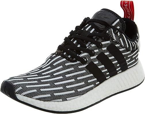Amazon Com Adidas Original Nmd R2 Primeknit Pk Core Black White