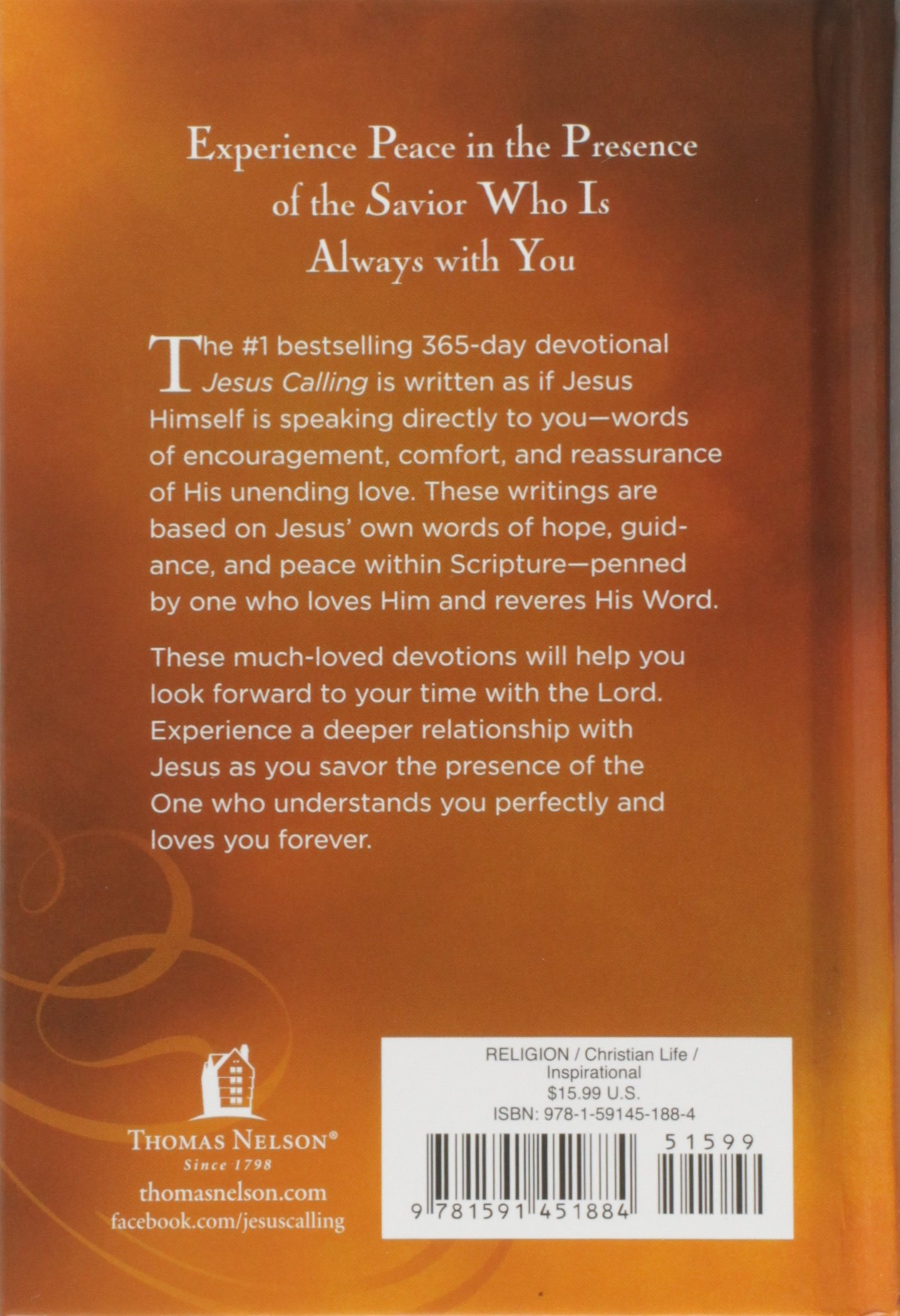jesus calling enjoying peace in his presence sarah young