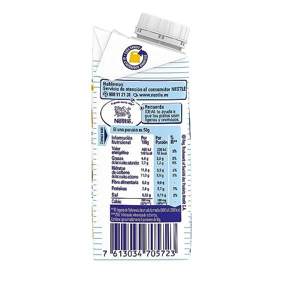 Nestlé Ideal Leche evaporada semidesnatada - Caja de leche evaporada 200 ml: Amazon.es: Amazon Pantry