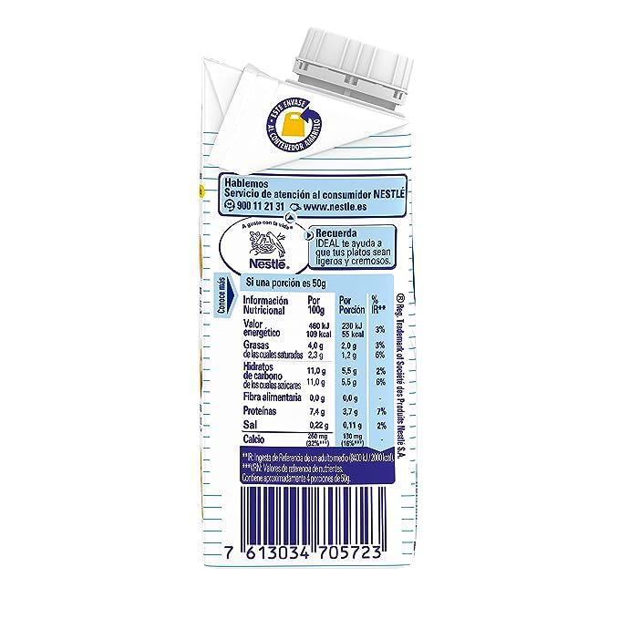 Nestlé Ideal Leche evaporada semidesnatada - Caja de leche evaporada ...