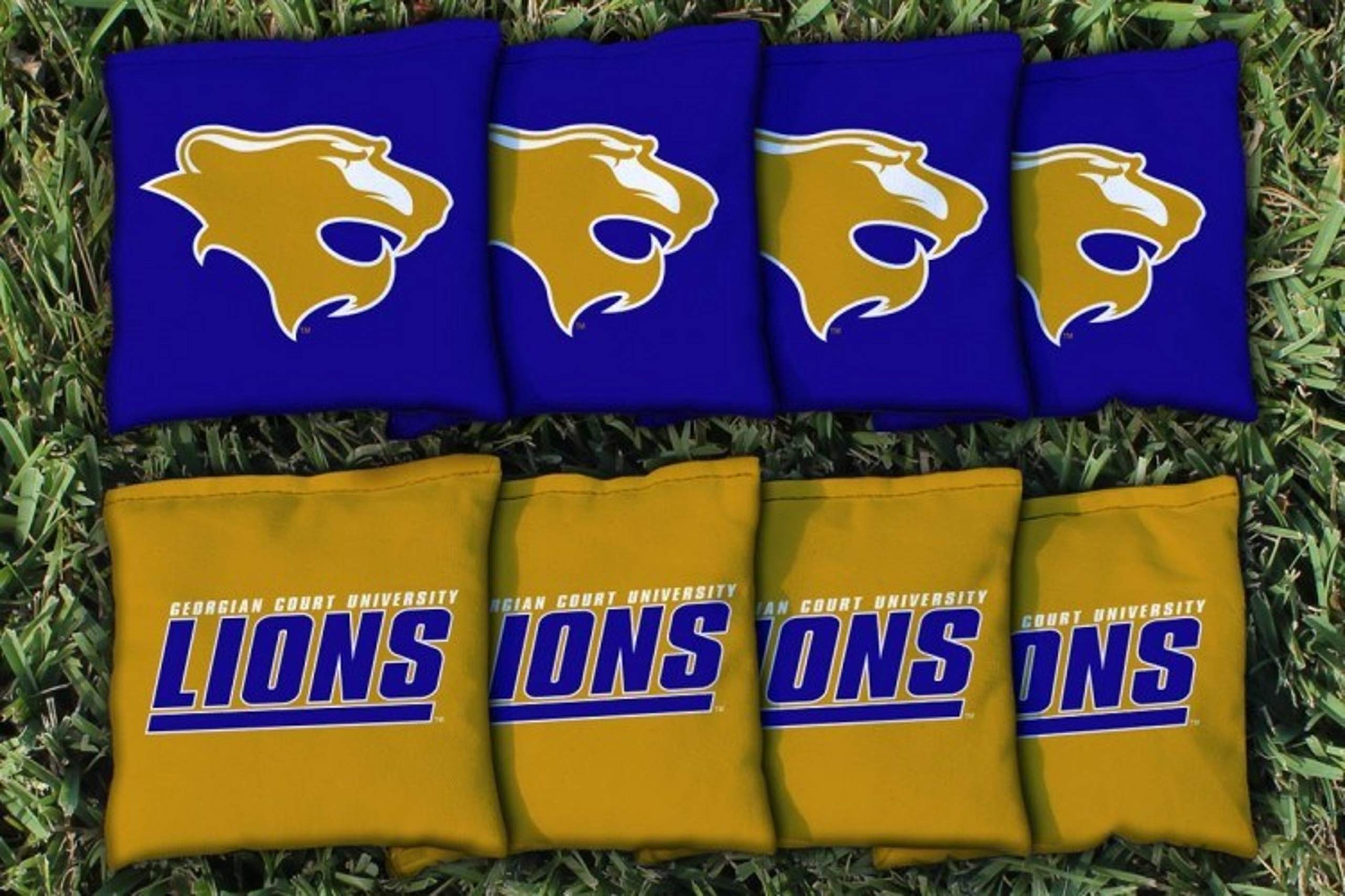 Victory Tailgate NCAA Collegiate Regulation Cornhole Game Bag Set (8 Bags Included, Corn-Filled) - Georgian Court Lions by Victory Tailgate