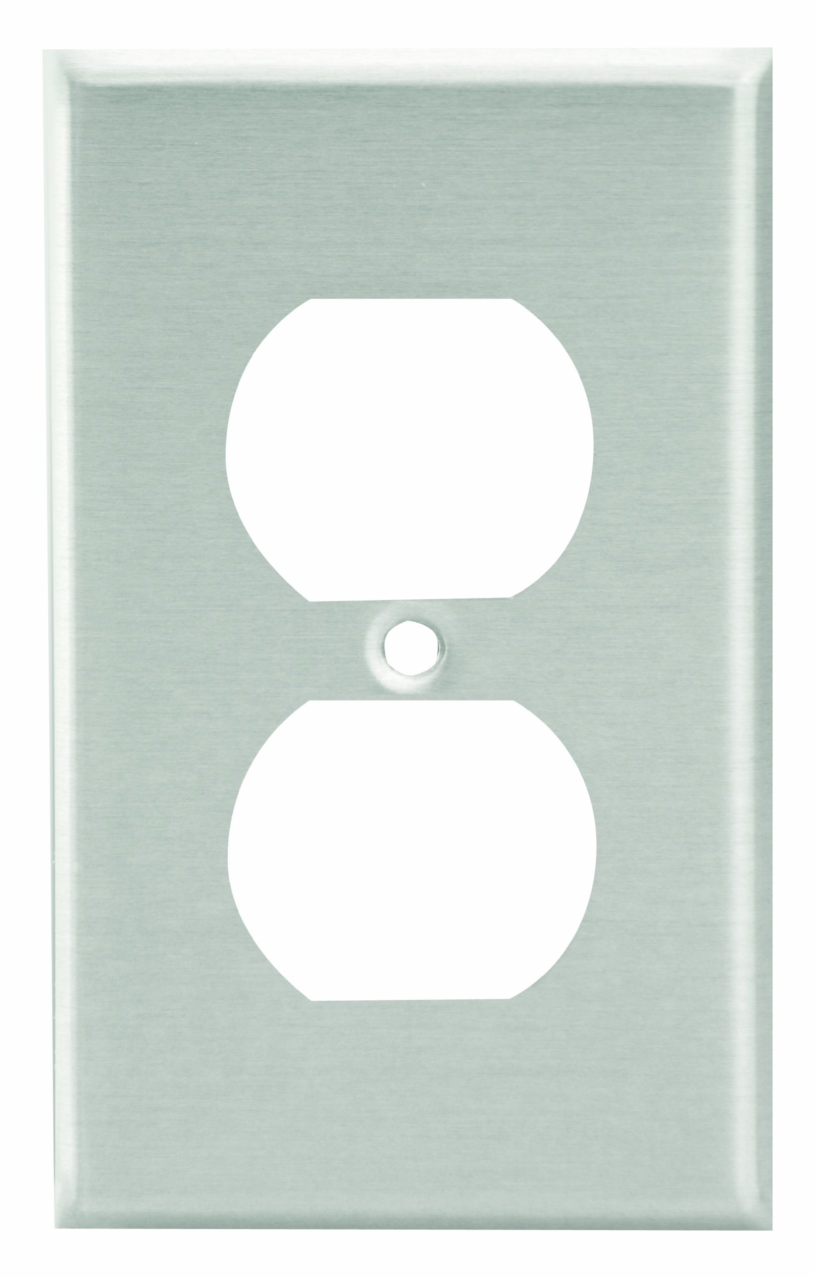 Leviton 83003 1-Gang Duplex Device Receptacle Wallplate, Standard Size, Device Mount, Aluminum