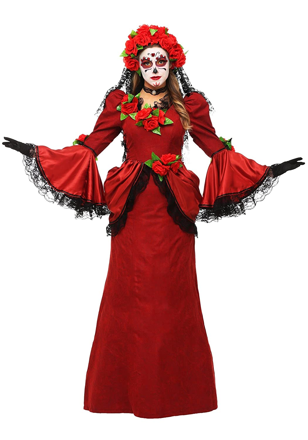 Women's Day of the Dead Fancy dress costume Large