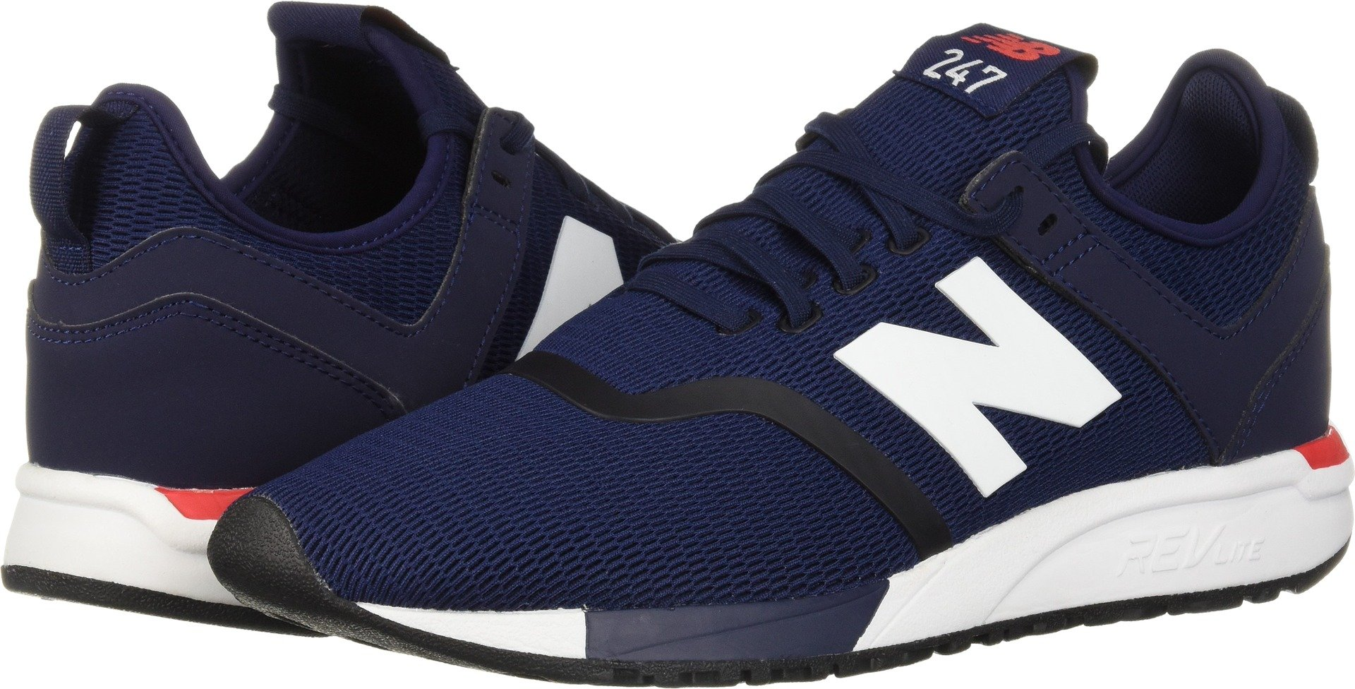 New Balance Men's 247d1 Sneaker, Pigment/Cerise, 11.5 D US
