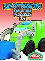 PLAY-DOH DIGGIN RIGS Rowdy The Trash Tossin' Garbage Truck