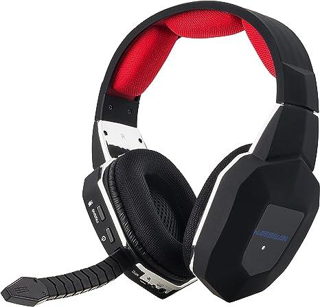 2.4GHz Auriculares Gaming Inalámbricos de Diadema para Xbox 360 PS4 PS3 Xbox UNA PC y Mac con Batería Recargable y Desmontable Mic-Azul: Amazon.es: Videojuegos