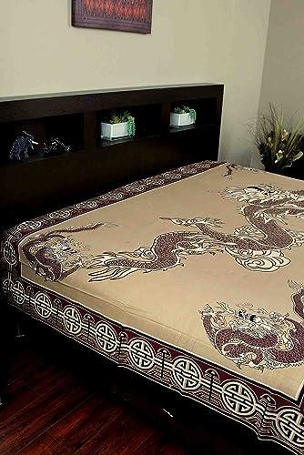 Asian Dragon Tapestry-Coverlet-Throw-Versatile Decor