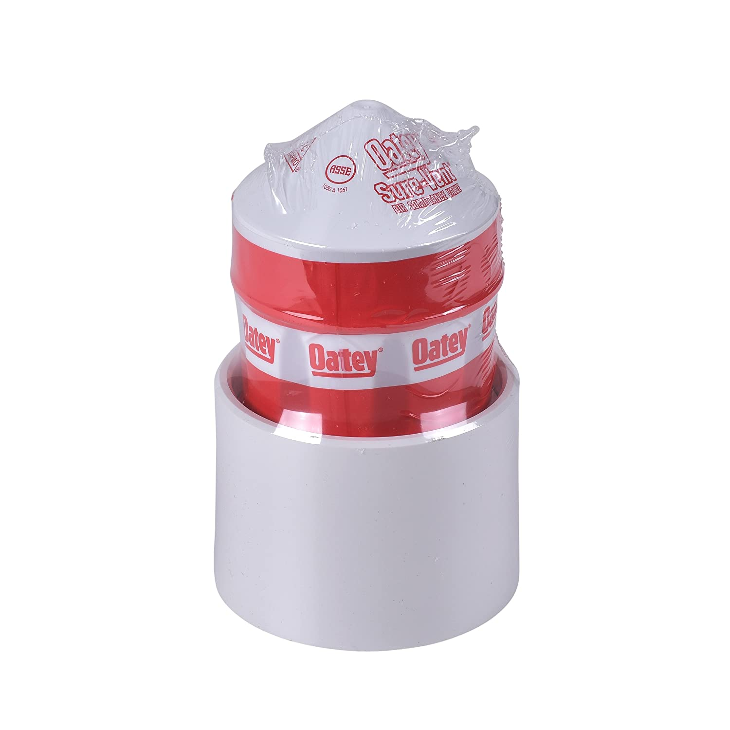 2-Inch Oatey 39017 Sure-Vent Air Admittance Valve with 1-1//2-Inch by 2-Inch PVC Adapter Bulk Pack