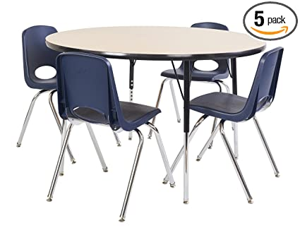 c43a343f9b9c5 Image Unavailable. Image not available for. Color  ECR4Kids 48 quot  Round  Activity Table ...