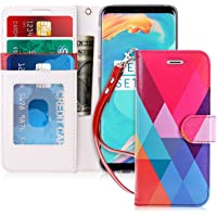 Galaxy S9 Case, FYY [Prevent Card Information Leaking Technique] Premium PU Leather Wallet Case with [Kickstand Feature] [Wrist Strap] [Shockproof Rubber Cover] for Samsung Galaxy S9 Pattern 15