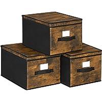 SONGMICS Składane pudełka do przechowywania, 3-częściowy organizer na ubrania, kosze na zabawki, kostki do…