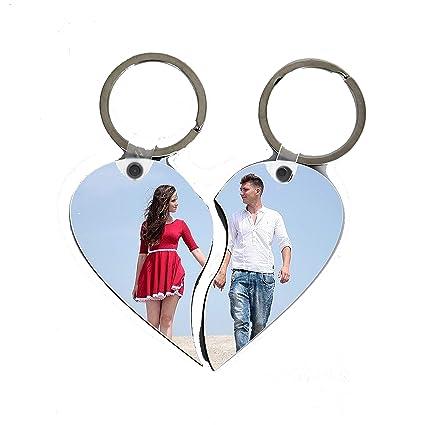 Llaver Personalizado con Foto (Corazón Partido con 2 mitades ...