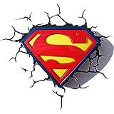 3D Light Fx 3DFX-SUPL Superman Logo Lampada LED e Touch, Plastica, Multicolore