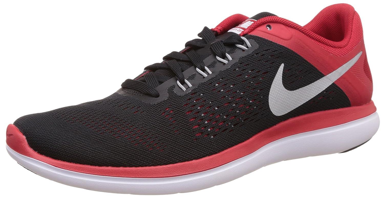 Nike Flex 2016 RN, Zapatillas de Running para Hombre 46 EU|Negro (Black / Metallic Silver-university Red)