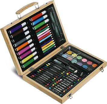 Set Disegno In Valigia Da 67 Pz Con Colori Amazonit Prima Infanzia