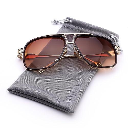 Cvoo High Fashion Square Mens Sunglasses Brand Designer Unisex Gold Metal Frame Male Eyewear Quality...