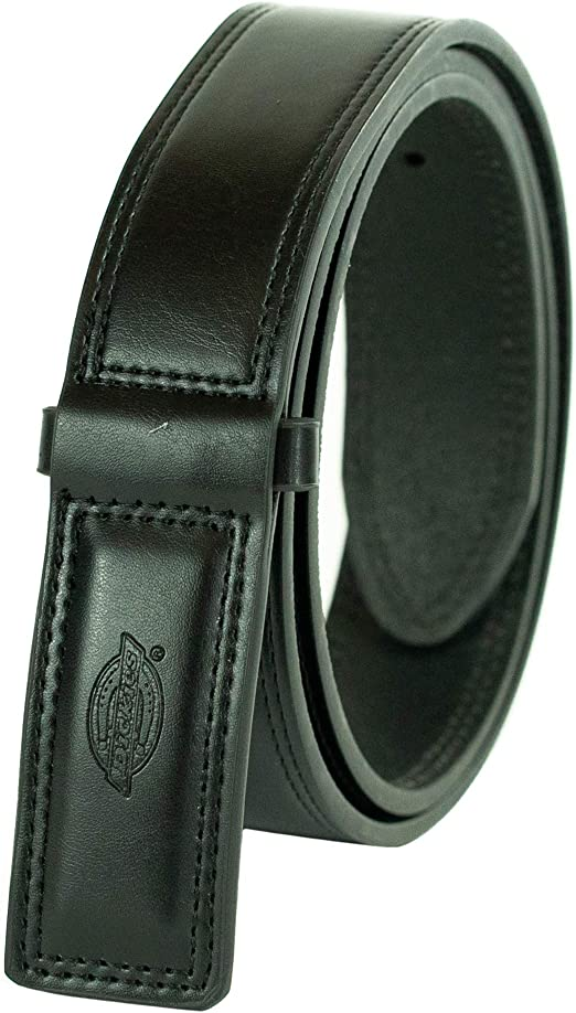 DICKIES BELT MEN/'S MECHANICS WORK BELT INDUSTRIAL BLACK LEATHER COVERED BUCKLE