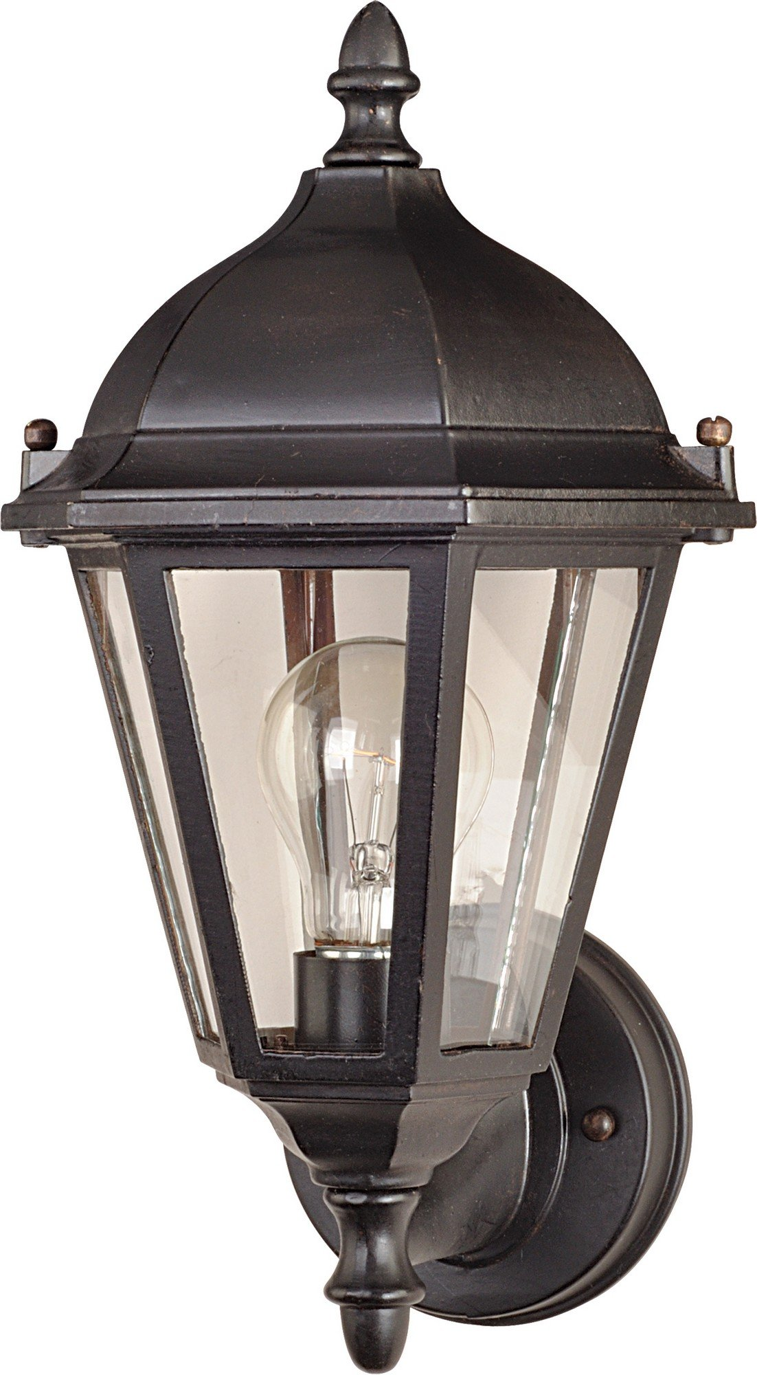 Maxim 1002EB Westlake Cast 1-Light Outdoor Wall Lantern, Empire Bronze Finish, Clear Glass, MB Incandescent Incandescent Bulb , 60W Max., Dry Safety Rating, Standard Dimmable, Glass Shade Material, 6048 Rated Lumens