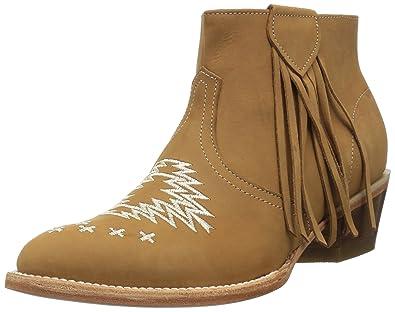 21daf3f13 Ferrini Women s Fringe Bootie Ankle Boot tan 6