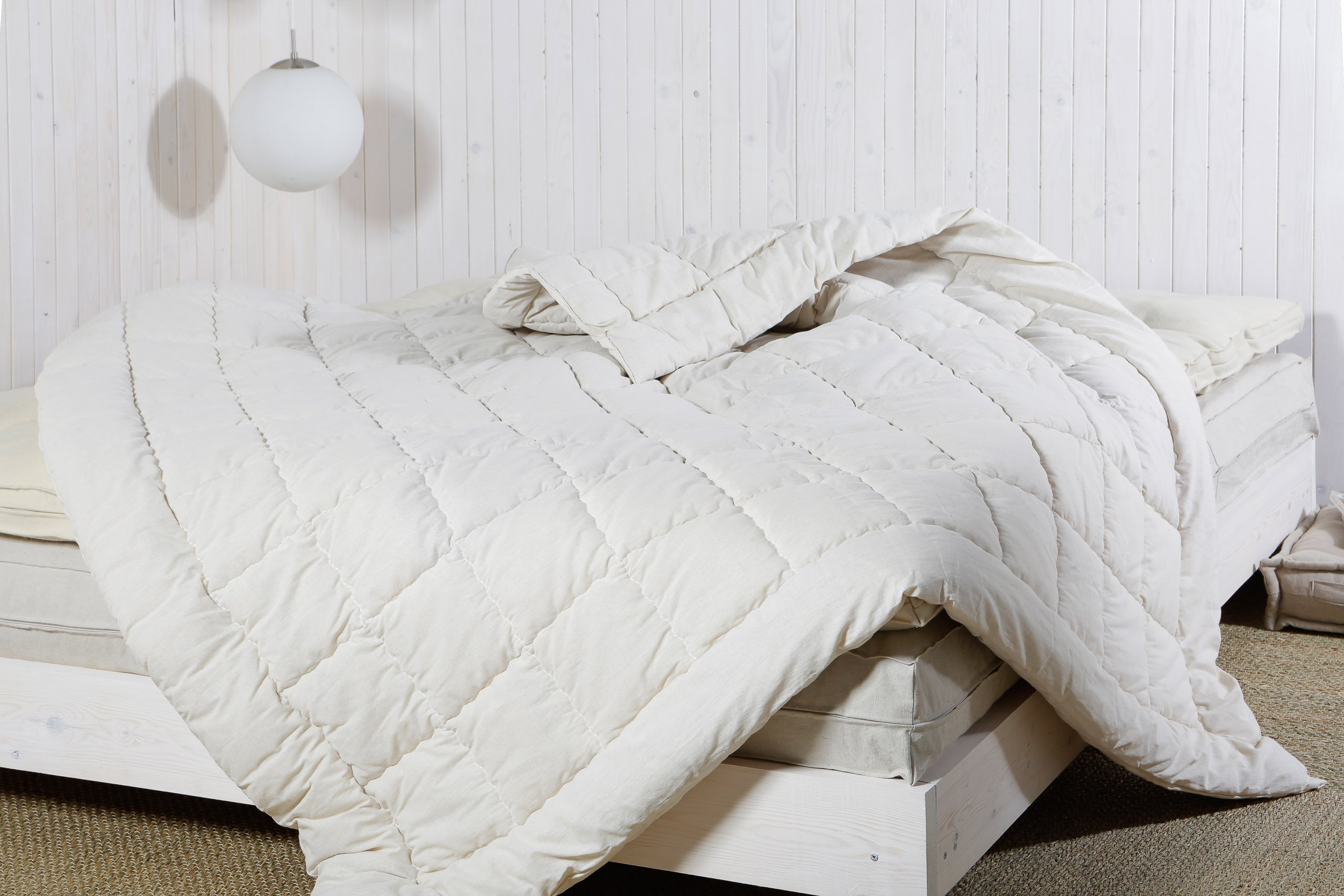 Home of Wool / Handmade Wool-filled Duvet Insert / Quilt / Comforter / Doona / Summer or Winter thickness / Natural / Non-toxic / Full, Twin, Queen, King or Any Custom Size by Home Of Wool (Image #1)