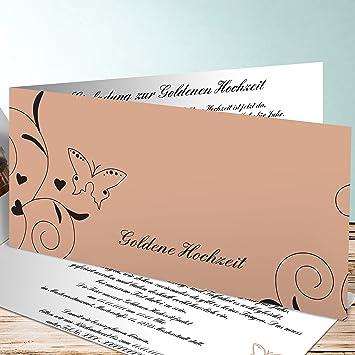 Einladung Zur Goldenen Hochzeit Selbst Gestalten Schmetterling 5