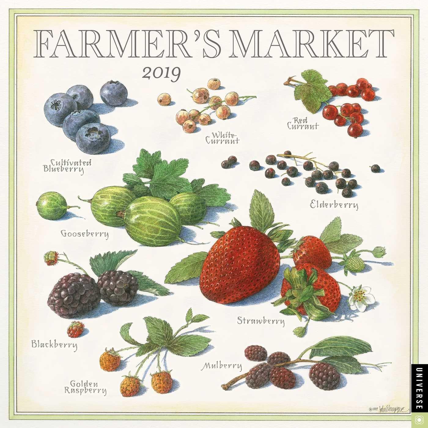 Market Calendar 2019 Farmer's Market 2019 Wall Calendar: John Burgoyne: 9780789334930