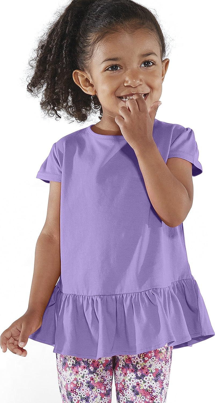 Rabbit Skins - Toddler Girls' Ruffle T-Shirt - 3327