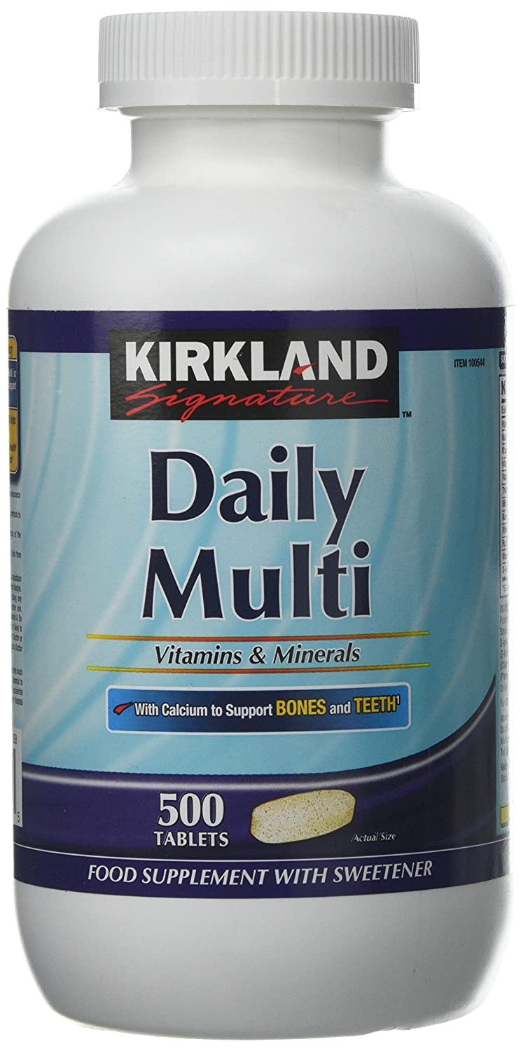 Costco Kirkland Signature Daily Multi Vitamins and Minerals Tablets - Pack  of 500