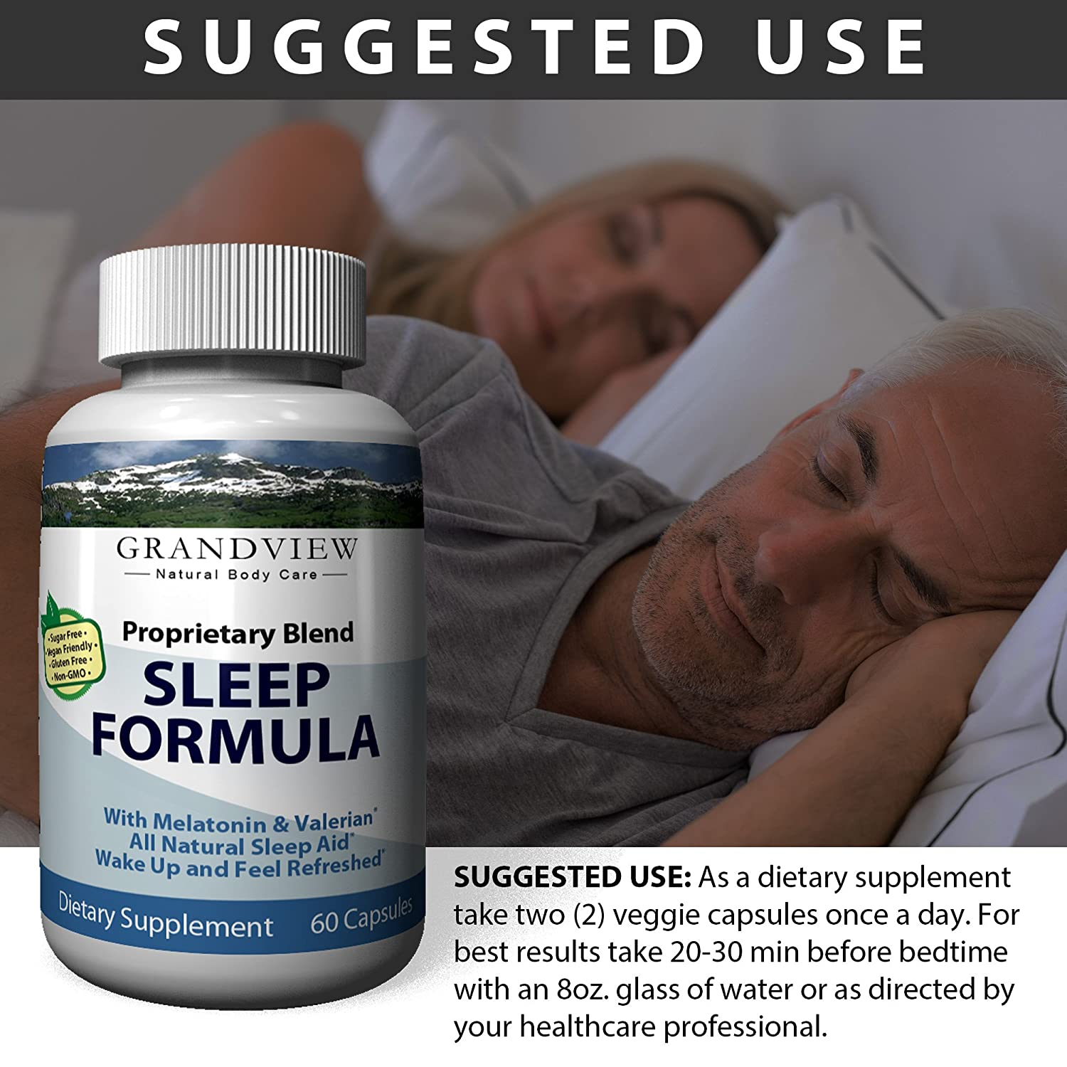Amazon.com: Natural Sleep Aid Is An All-Natural Sleep Formula That Combines Melatonin, Valerian Root And Non-Addictive Extracts Into the Best 100% Safe ...