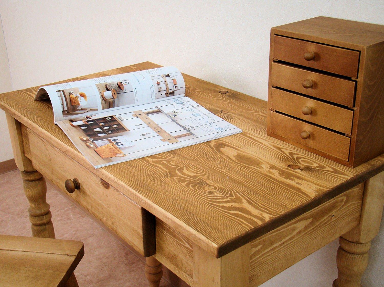 COUNTRY HOUSE(カントリーハウス) 木製 ワーキングデスク 書斎机 ワトコダークM-801-WD B01433G7O2ワトコダーク