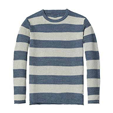 dae0734b40ada2 Ting room 2019 Spring New Striped Sweater Men Slim Fit 100% Cotton O-Neck  Plus Size Knitted Pullovers