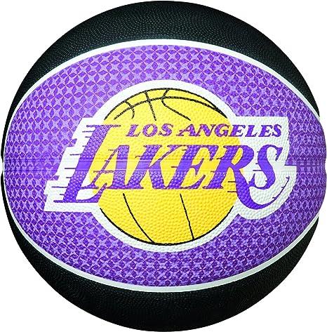 Spalding L.A. Lakers - Balón de Baloncesto, Color Negro/Violeta ...