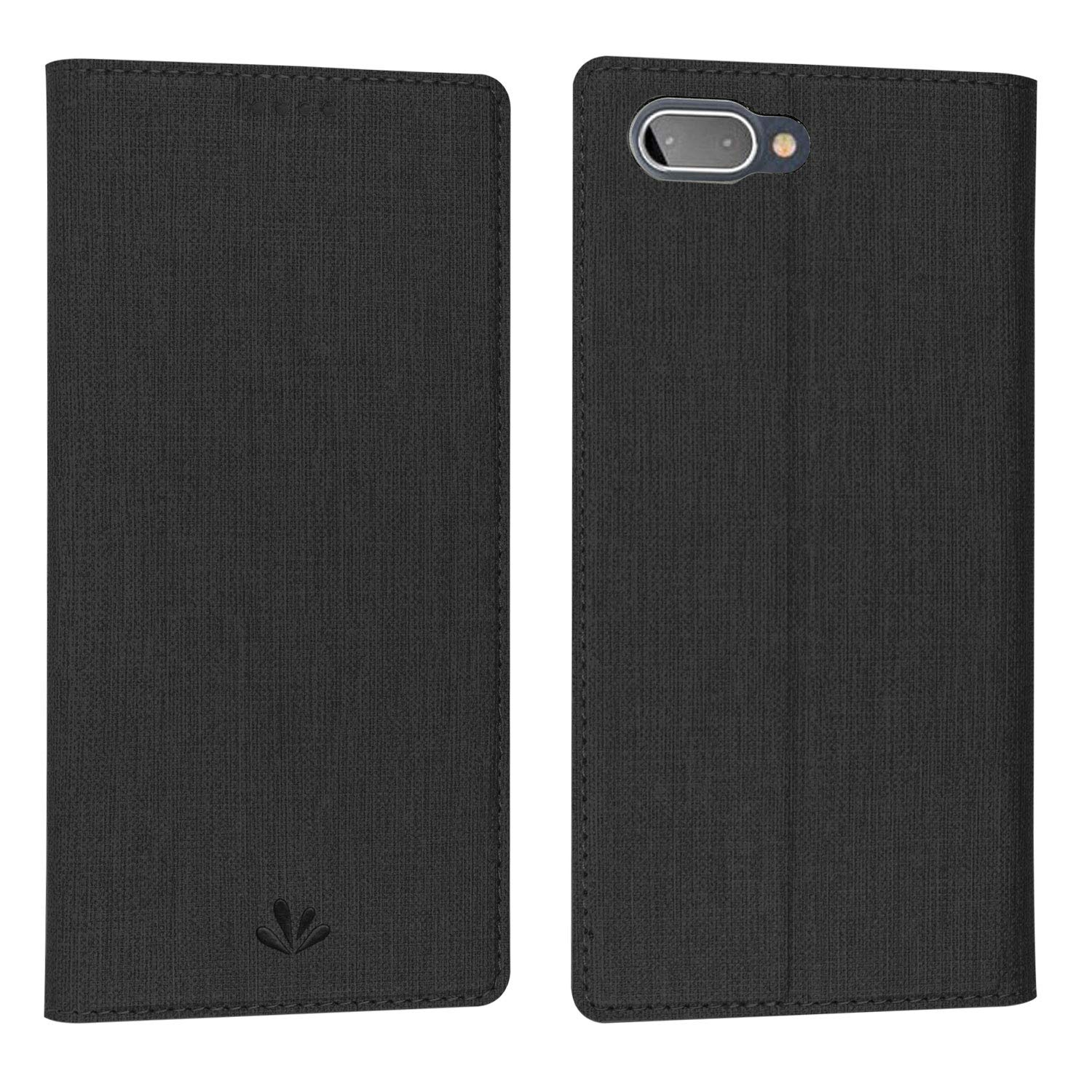 Simicoo BlackBerry Key2 LE Flip PU Leather Slim Case Card Holster Stand  Magnetic Cover Clear Silicone TPU Full Body Shockproof Pocket Thin Wallet  Case
