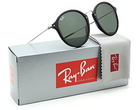 9a36bab564 Image Unavailable. Image not available for. Colour  Ray-Ban RB2447 Round  Fleck Unisex Sunglasses Black 901-52mm