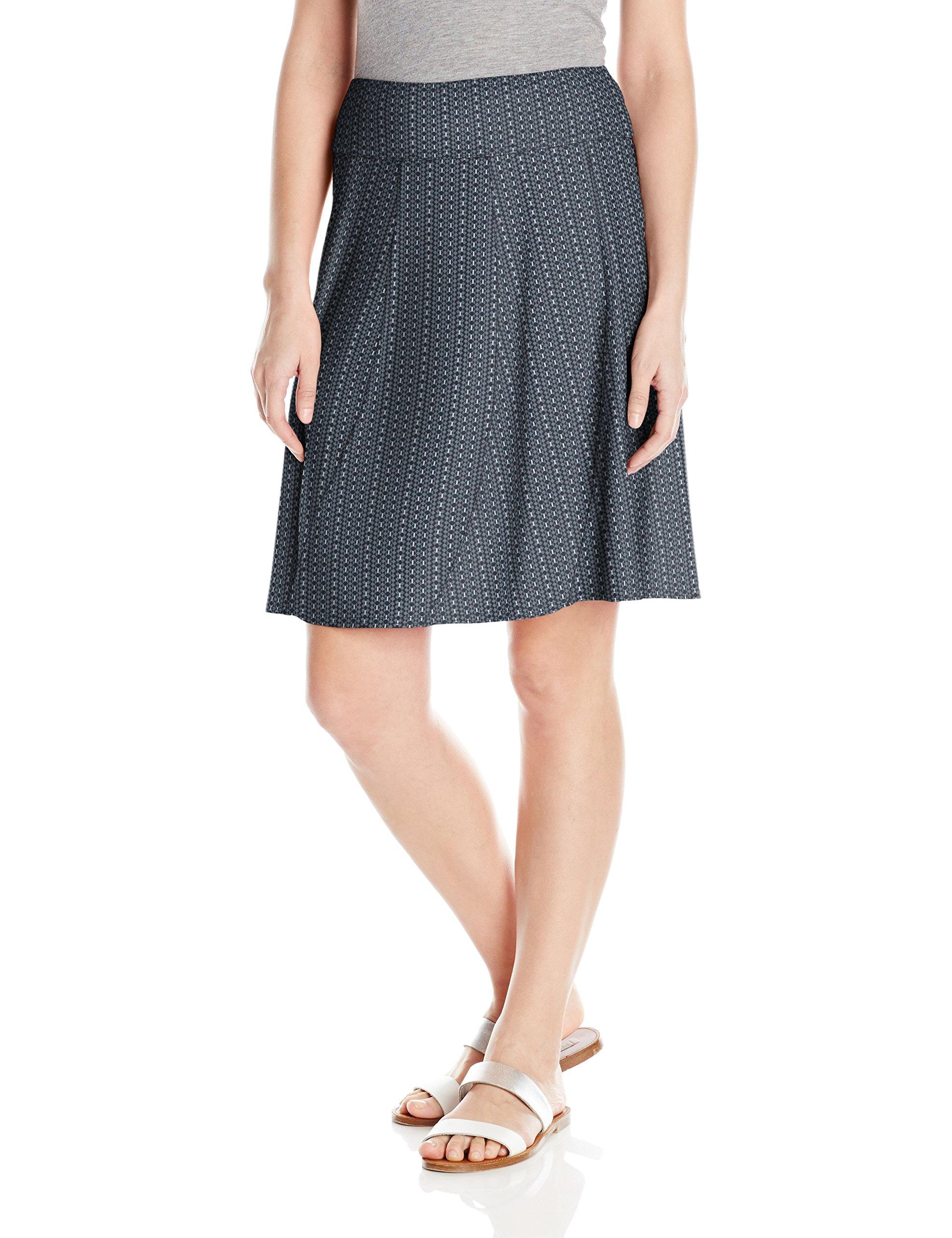 prAna Women's Vendela Printed Skirt, Charcoal Parade, Medium