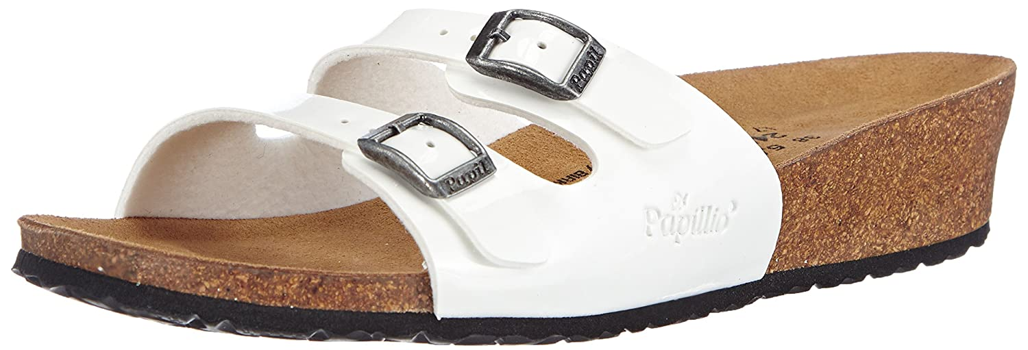 Papillo Anne, Sandales femme Blanc Papillo Blanc) (Vernis Sandales Blanc) 2963a3b - therethere.space