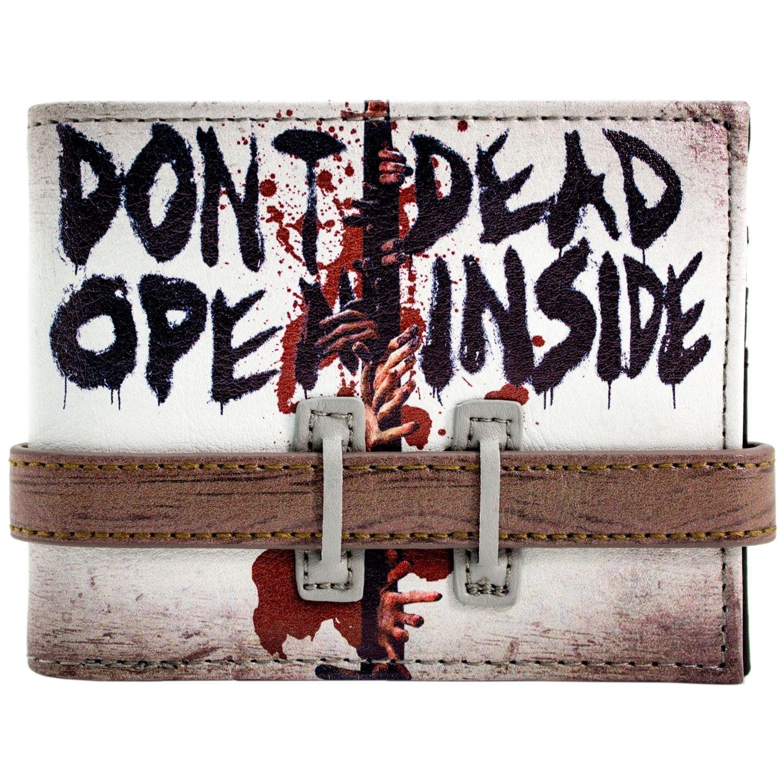 Walking Dead Dont aperta cinturino con bottoni Grigio portafoglio 29459