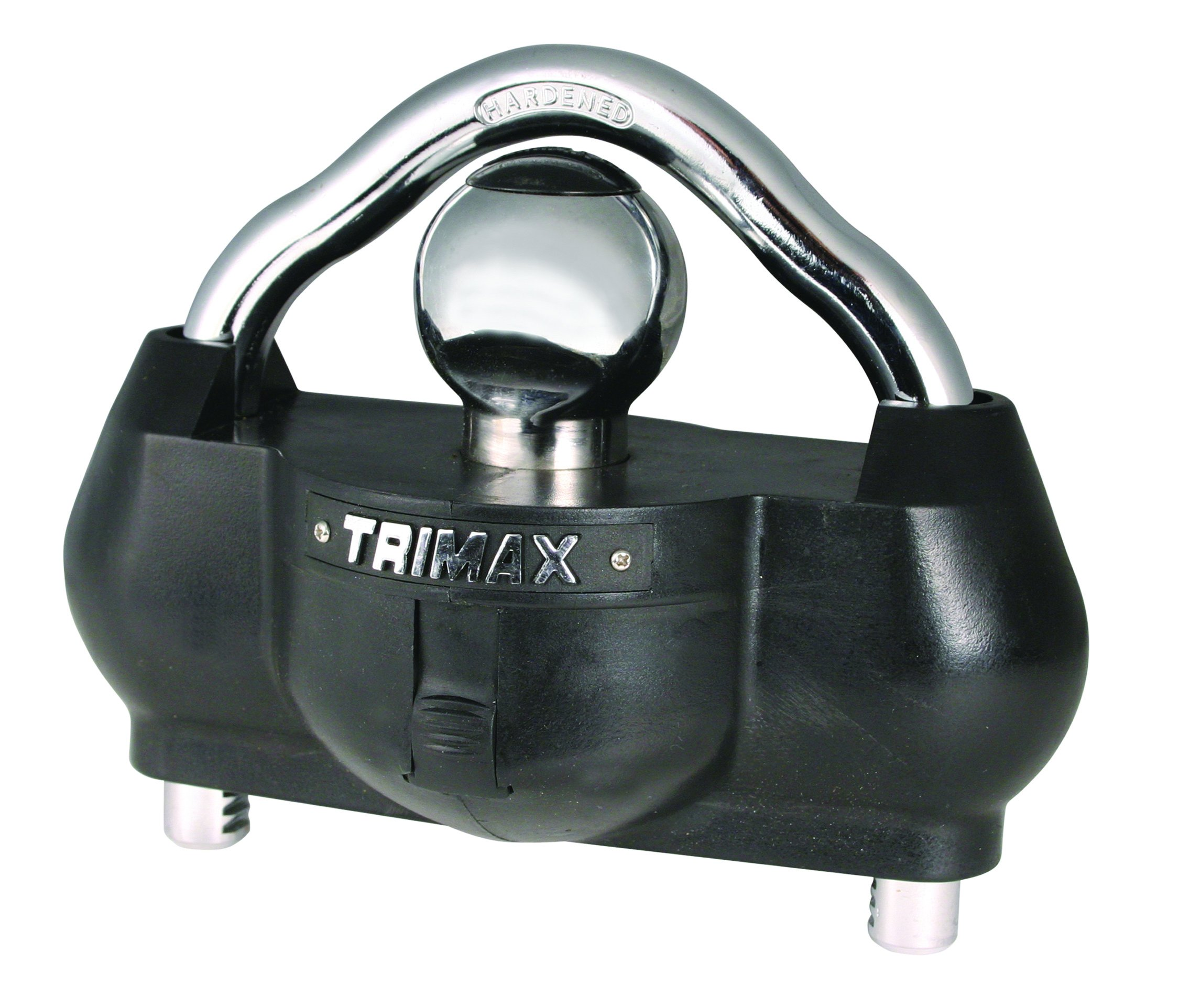 Trimax UMAX100 Premium Universal 'Solid Hardened Steel' Trailer Lock (fits All couplers) by Trimax