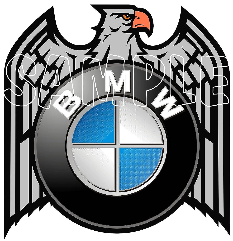 60MM BMW RETRO EAGLE STICKER., use on Motorbikes, Scooters, Helmets, Leg Shields. IPoppinshop