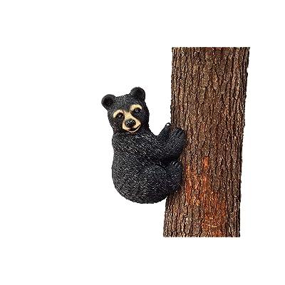 Hilarious Home Bear Face Tree Décor Outdoor Garden Statue : Garden & Outdoor