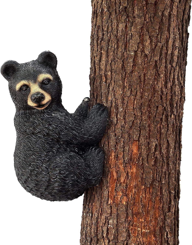 Hilarious Home Bear Face Tree Décor Outdoor Garden Statue