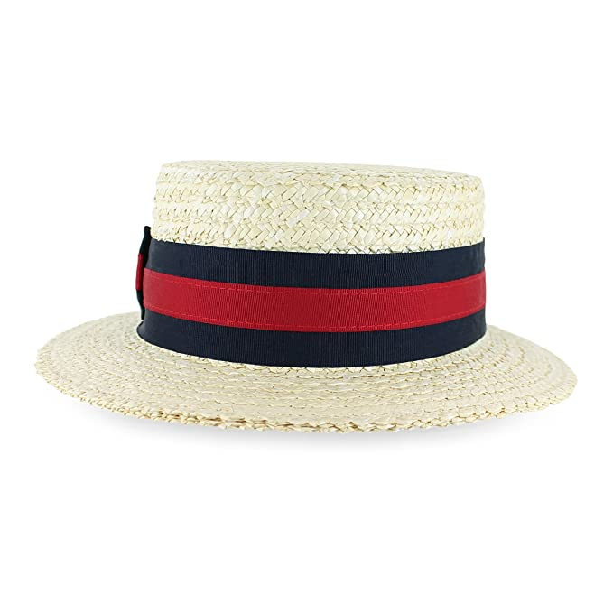 Belfry Gondola - Traditional Straw Boater Skimmer Hat (Small 2faa916d1