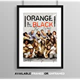 Orange Is The New Black Full Cast Signed Autograph Signature A4 Poster Photo Print Photograph Artwork Wall Art Picture TV Show Series Season DVD Boxset Present Birthday Xmas Christmas Memorabilia Gift (POSTER ONLY)