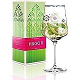 RITZENHOFF Hugo R. Hugo-Glas, Aperitif-Glas von Sandra Brandhofer, aus Kristallglas, 600 ml, mit edlen Platinanteilen