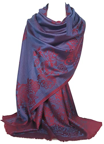 GFM - Pashmina - para mujer azul S5 - Blue (BechNLLL) Large