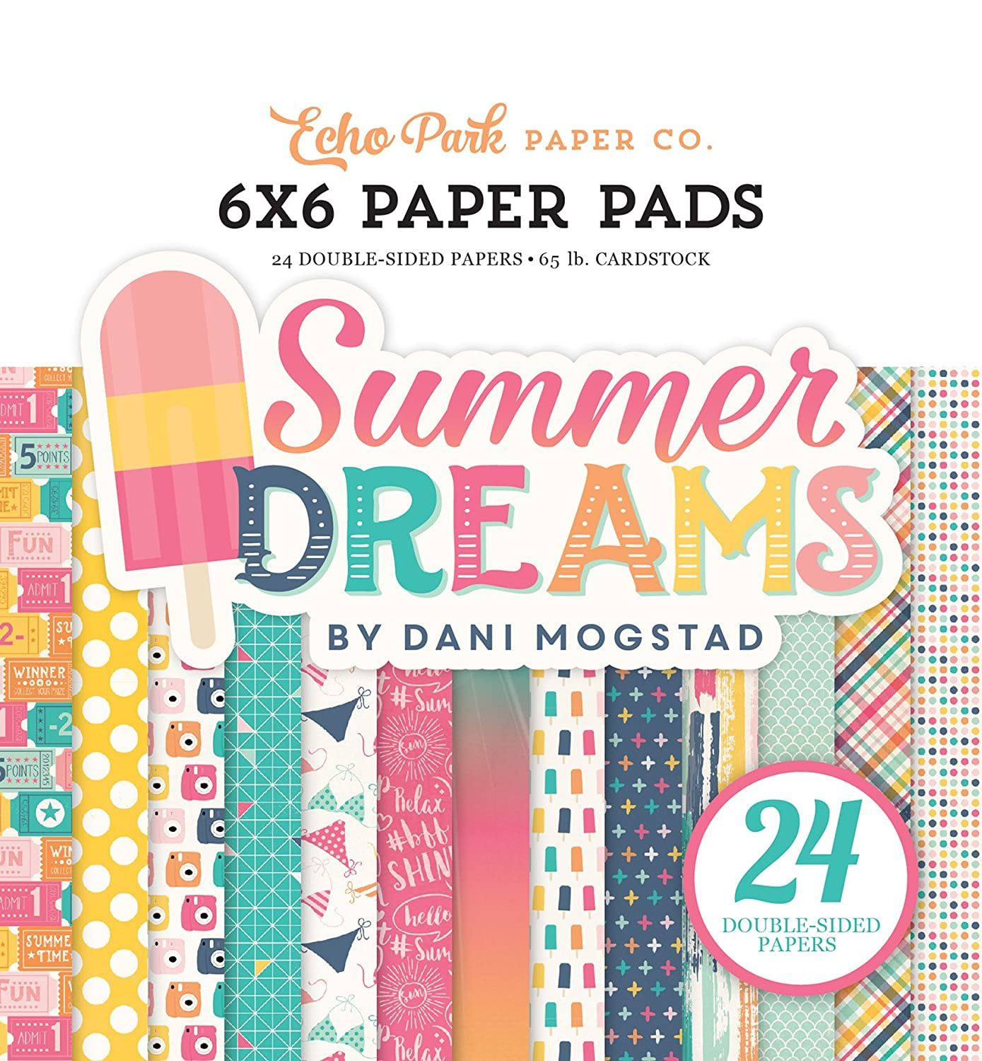 Echo Park Paper Company Sweet Summertime Paper Pad, 6 x 6
