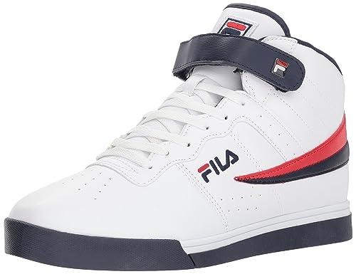 Fila Vulc 13 Mid Plus Hombre US 9.5 Blanco Zapatillas: Amazon.es: Zapatos y complementos
