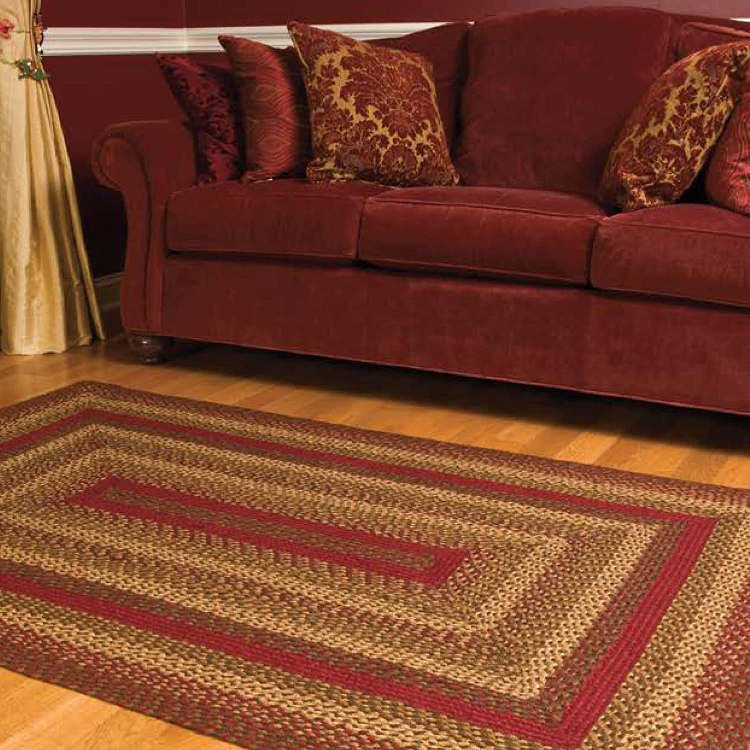 "Amazon Cinnamon Oval Braided Rug 20""x30"" Kitchen & Dining"
